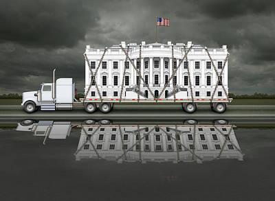 Digital Art - White House Being Delivered by James Larkin