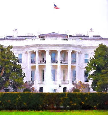 Digital Art - White House by Christopher Wieck