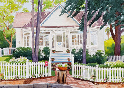 Painting - White House Del Mar by Mary Helmreich