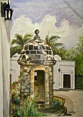 White House-garita Art Print by George Bloise