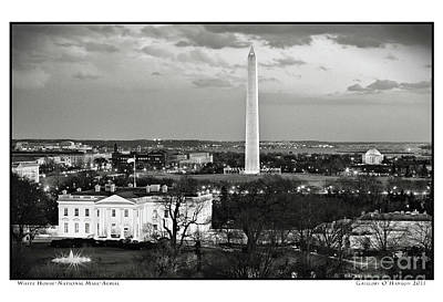 Gregory Ohanlon Photograph - White House- National Mall- Aerial by Gregory O'Hanlon