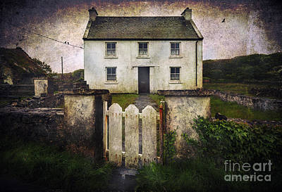 Art Print featuring the photograph White House Of Aran Island by Craig J Satterlee