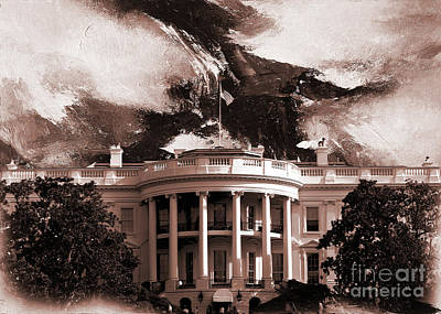Painting - White House Washington Dc by Gull G