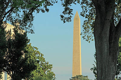 Photograph - The Washington Monument With A Sliver Of The White House by Cora Wandel