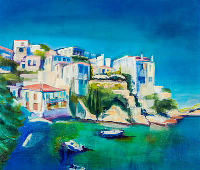 Painting - White Houses In The Sun by Jenny anne Morrison