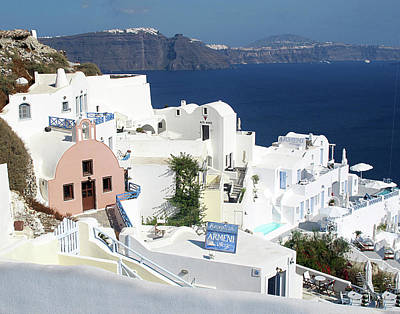 White Houses Of Oia Art Print
