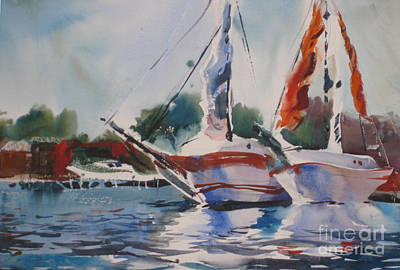 Painting - White Hulls by John Byram