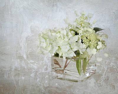 Photograph - White Hydrangea by Karen Lynch