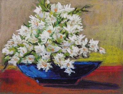 Painting - White In Blue by John Williams