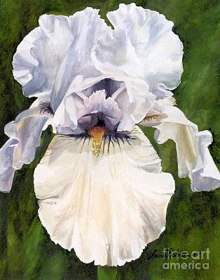 Painting - White Iris by Laurie Rohner