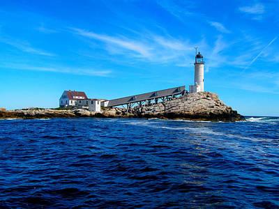 White Island Lighthouse Art Print by Bob Foudriat