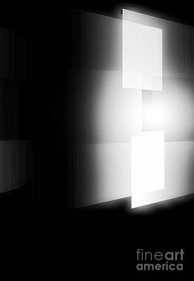 Contemporary Abstract Digital Art - White by John Krakora