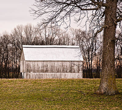 Photograph - White Kentucky Tobacco Barn by Greg Jackson