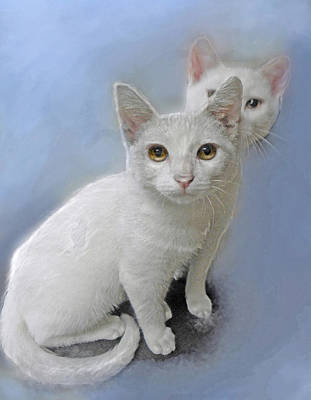 Painting - White Kittens by Jane Schnetlage