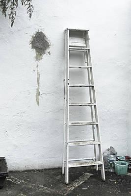 White Ladder Art Print by Tom Singleton