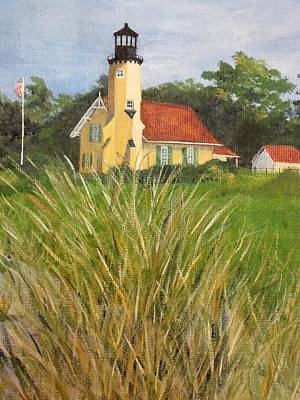 Painting - White Lake Lighthouse by Carolyn Koup