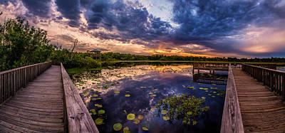 Photograph - White Lake Sunset Panorama Rework by Micah Goff