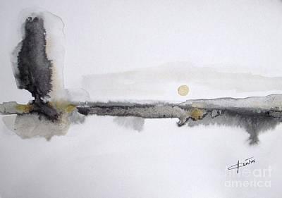 Painting - White Lake Sunset by Vesna Antic