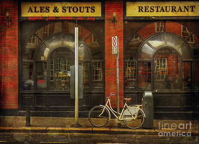 Art Print featuring the photograph White Leopard Bicycle  by Craig J Satterlee