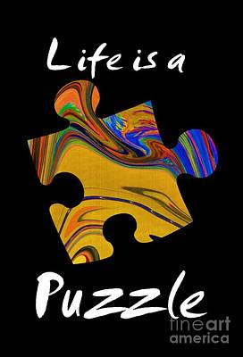 White Life Is A Puzzle Art Print