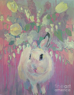 White Lilacs Original by Kimberly Santini