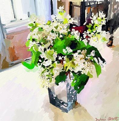 Painting - White Lilacs by Melissa Abbott