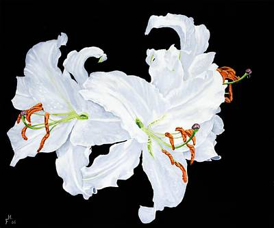 Painting - White Lilies by Frank Hamilton