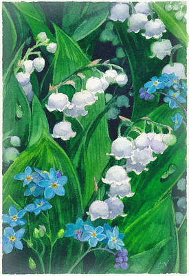 White Lilies Of The Valley Art Print