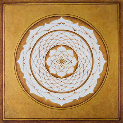 Painting - White Lotus Eye by Erik Grind