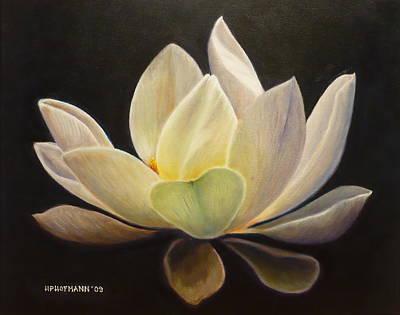 White Lotus Painting - White Lotus by Hugo Palomares