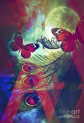 Digital Art - White Magic by Maria Urso
