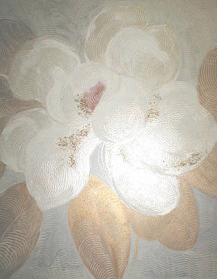 White Magnolia Art Print by Marja Koskinen-Talavera