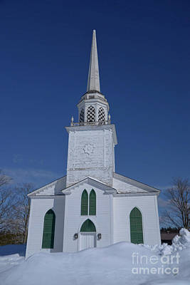 Photograph - White Maine Church by Alana Ranney