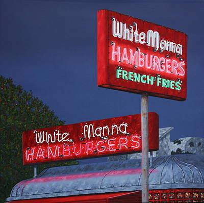 Slider Painting - White Manna At Night by Mark Oberndorf