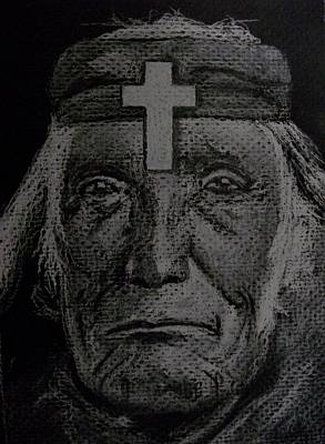 Christianity Drawing - White Man's Burden by Nick Young