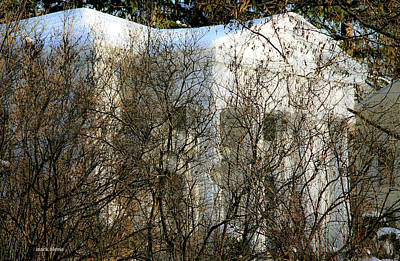 Photograph - White Manse. by Mark Alesse