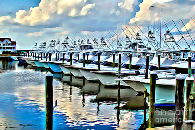 Reflected Digital Art - White Marlin Open by Carey Chen
