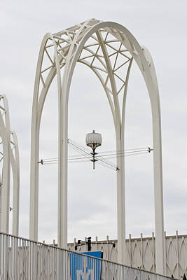 Photograph - White Metal Arches - Seattle by Marie Jamieson