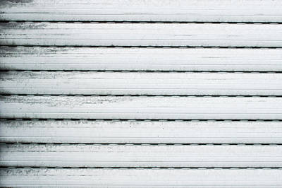 Black Metal Fence Photograph - White Metal by Tom Gowanlock