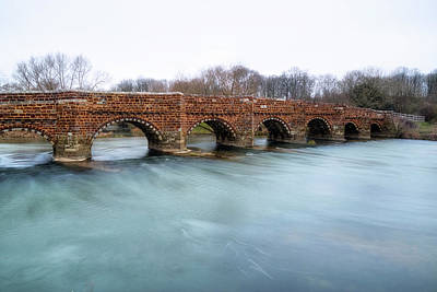 White Mill Bridge - England Print by Joana Kruse
