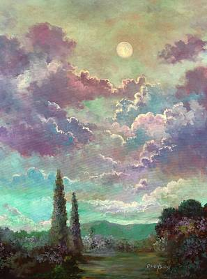 Painting - White Moon Rising by Randy Burns