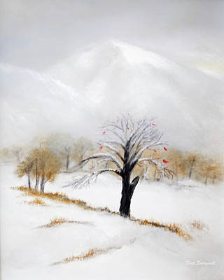 Painting - White Mountain First Snow by Dick Bourgault