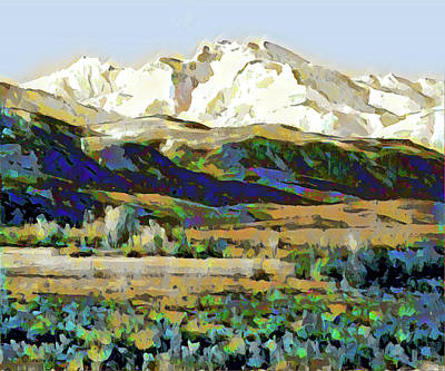 Digital Art - White Mountain by Gary Grayson