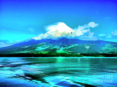 Digital Art - White Mountain by Rick Bragan