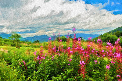 Painting - White Mountains View  by Mitchell R Grosky