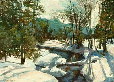 Painting - White Mountain Winter Creek by Claire Gagnon