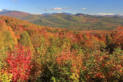 Photograph - White Mountains Fall Foliage Bear Notch by John Burk