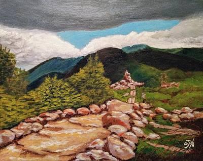 White Mountains Hiking Trail Art Print by Sheri Doyon