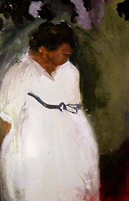 Painting - White Mourning Dress by Carole Johnson