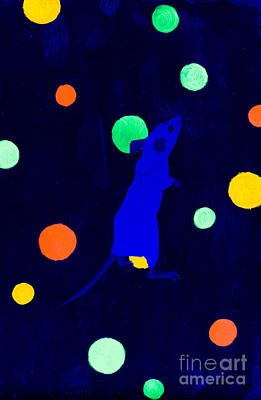Painting - White Mouse Uv by Stefanie Forck